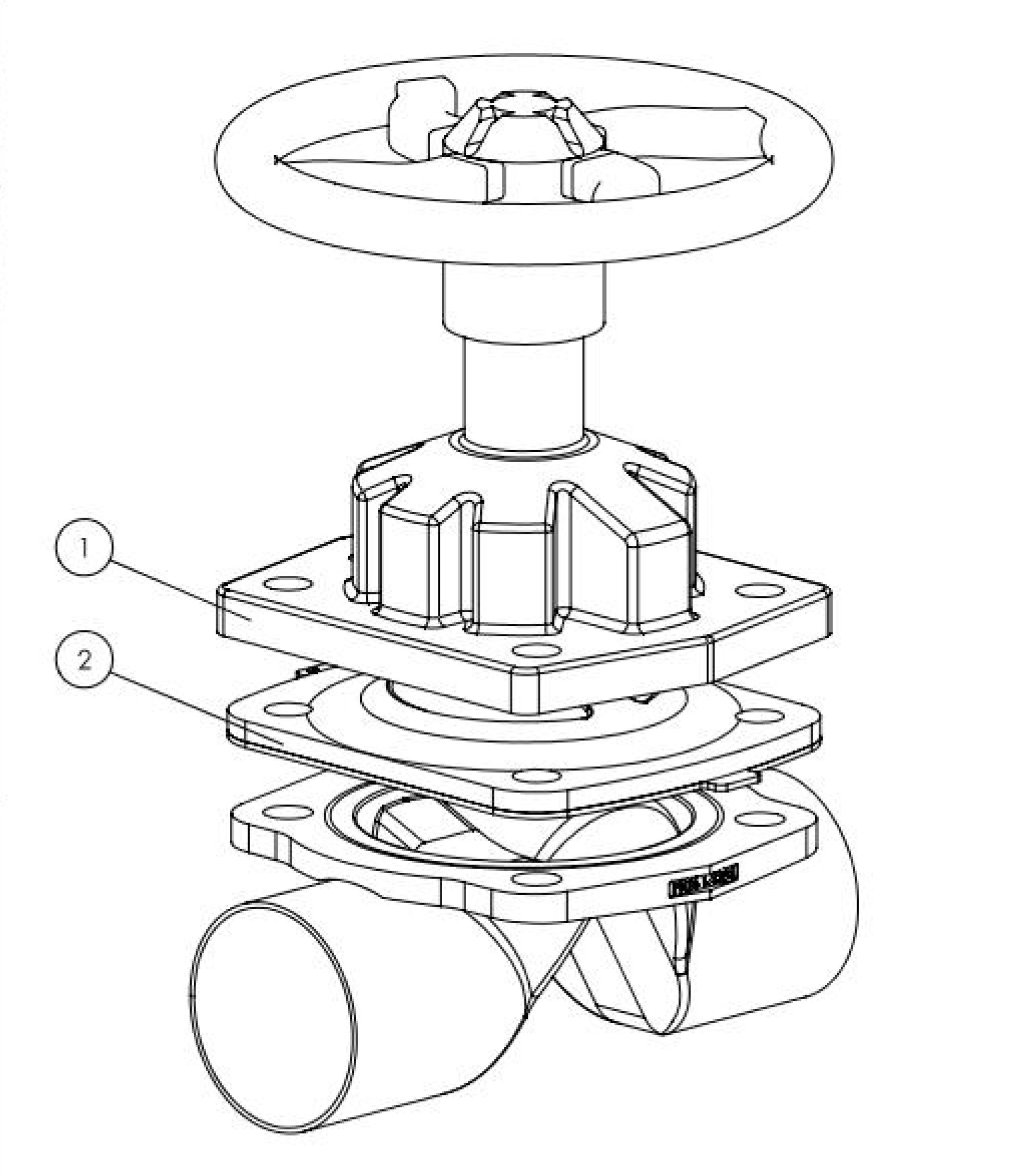 441834 stainless steel diaphragm valve manual diaphragm valves the depiction of the products may differ from the actual specific design ccuart Image collections